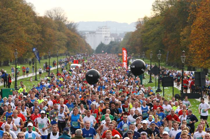 26 October 2009; A general view of competitors in the Phoenix Park, in action during the Lifestyle Sports - adidas Dublin Marathon 2009. Phoenix Park, Dublin. Picture credit: Tomas Greally / SPORTSFILE *** NO REPRODUCTION FEE ***